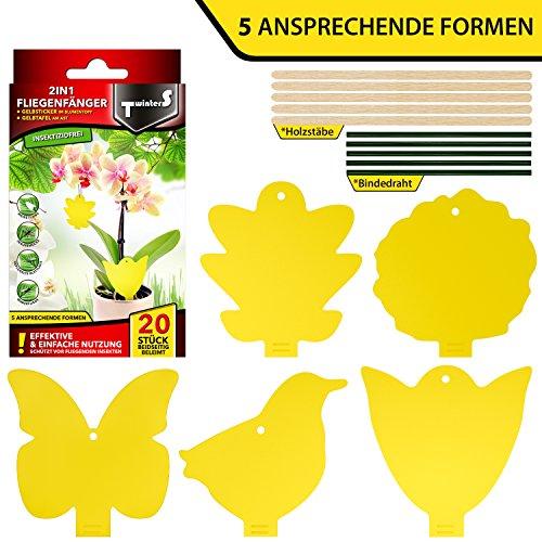 2in1 fliegenfallen gelbsticker gelbtafeln gelbstecker for Neudorff gelbsticker