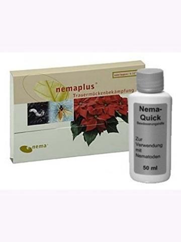NemaPlus SF (25 Mio für 20qm) + Nema-Quick (50 ml) Kombi-Packung SF Nematoden zur Bekämpfung von Trauermücken - 1